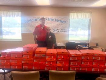 Shoes for Kids donates to Reid Health Care Pavilion patients