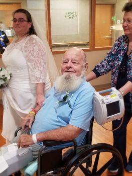 Couple says 'I do' on Reid Health's ARU