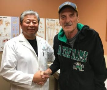 Tim Cline right is a big fan of Dr. Mario Lee.