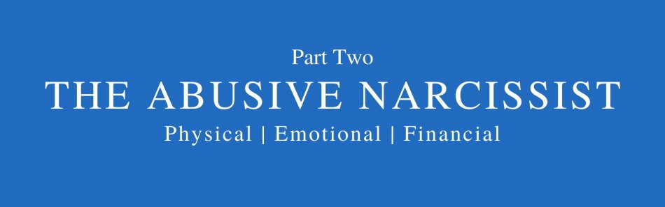 Words part two the abusive narcissist physical emotional financial