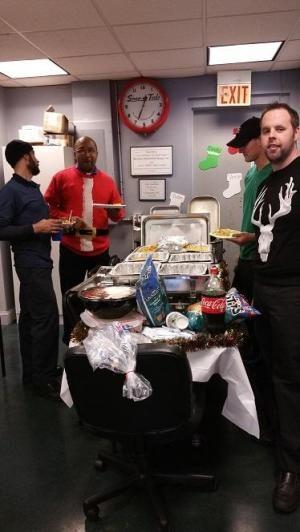 the Braxton team enjoying a holiday party