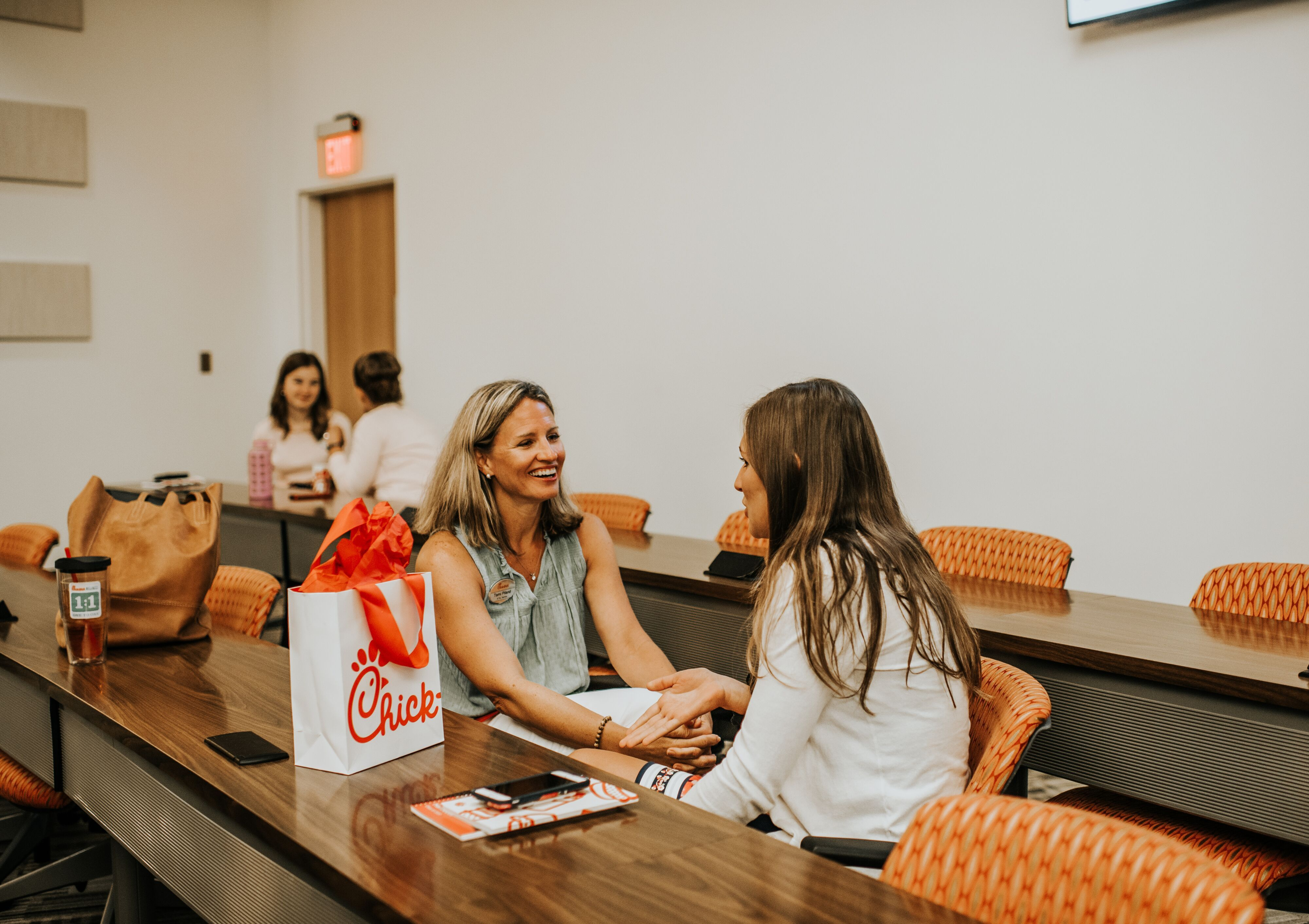 2020 Chick-fil-A Fellow, Kaitlyn Ashcraft, meets her Chick-fil-A mentor, Tami Piland.
