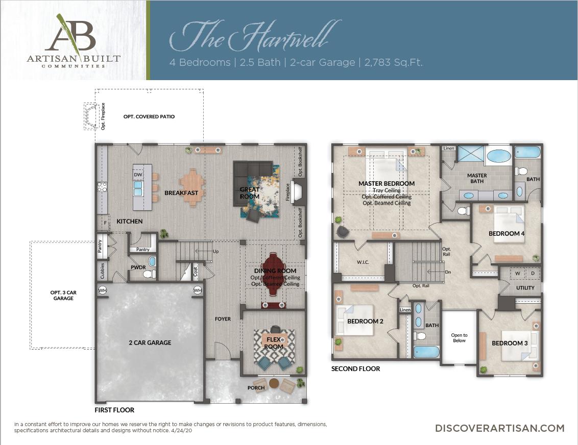 The Hartwell floor plan