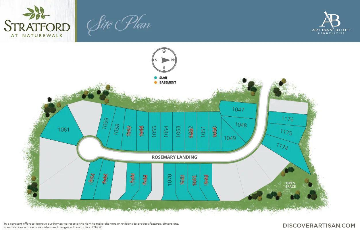 the site plan for Stratford at NatureWalk