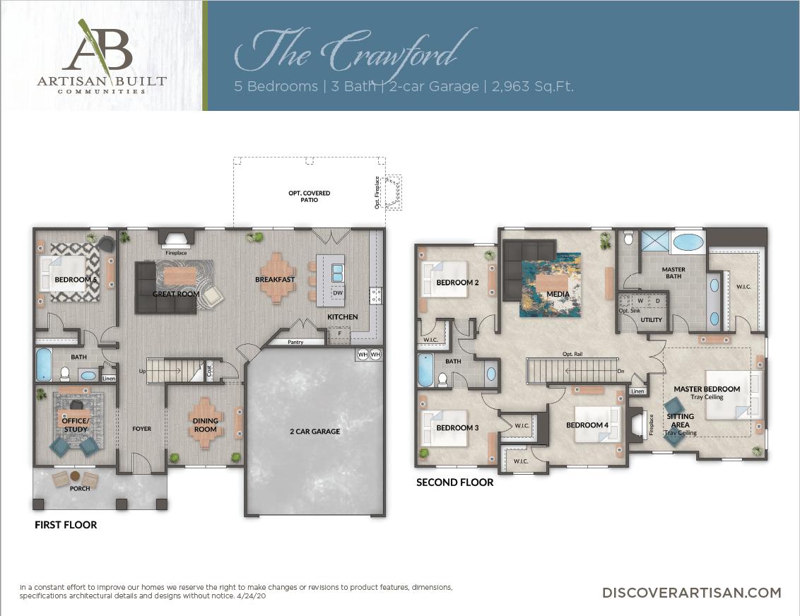 The Crawford floor plan