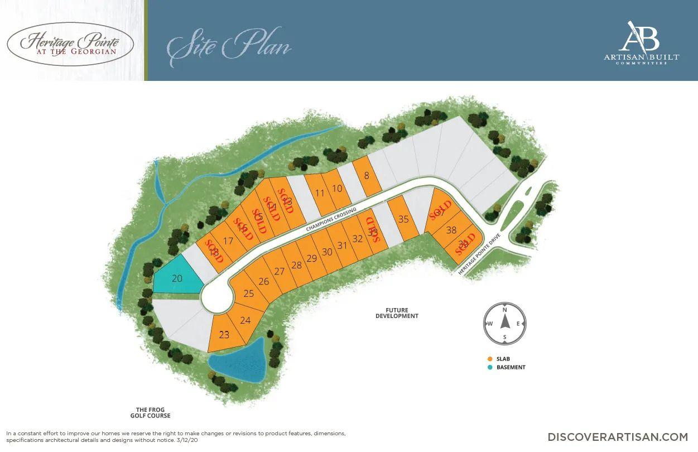 the Heritage Pointe site plan