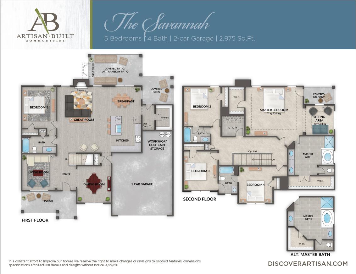 The Savannah floor plan