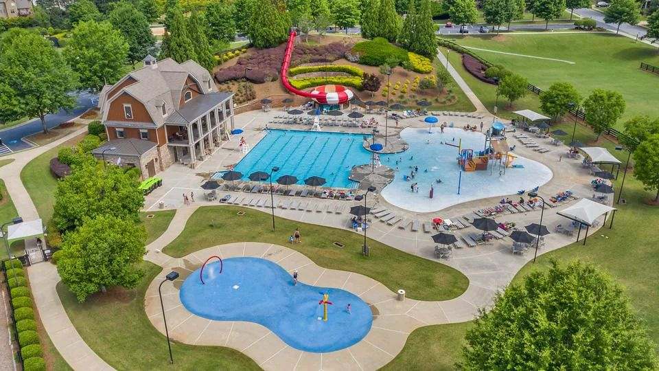the community pool and waterpark at NatureWalk