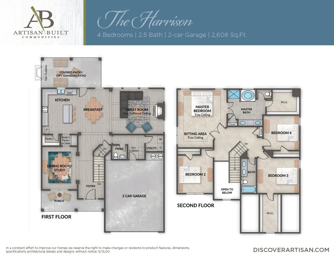 The Harrison floor plan
