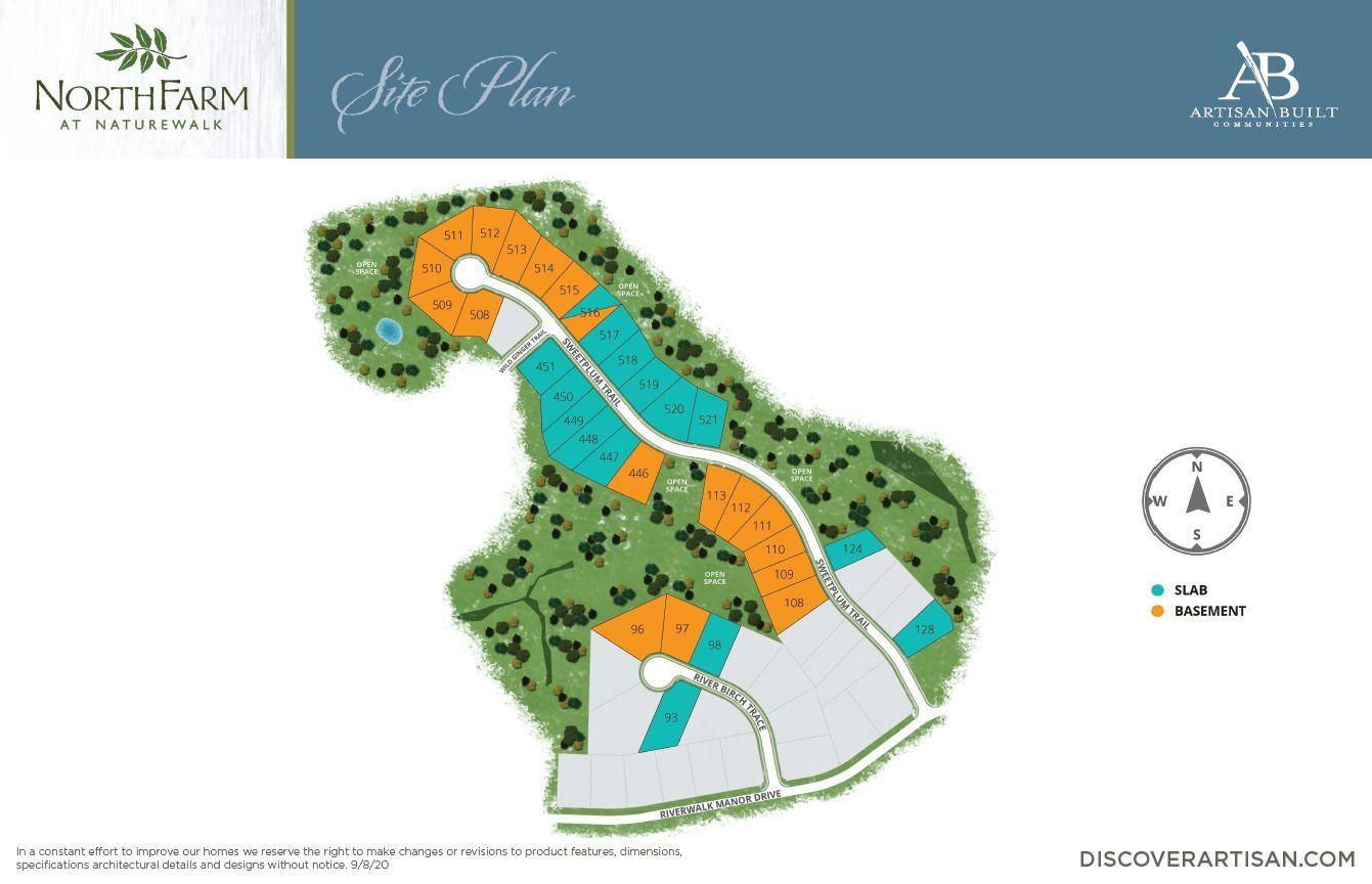 the site plan for NorthFarm at NatureWalk