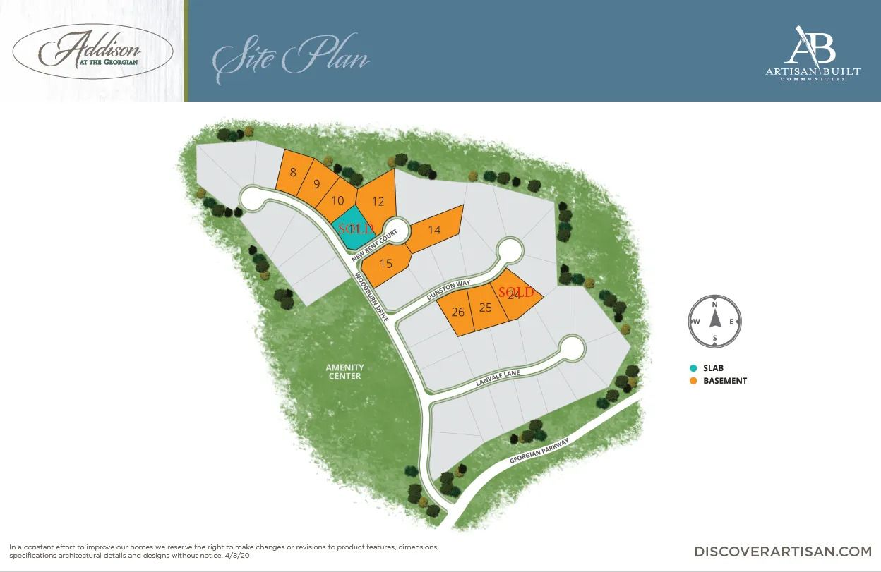 the site plan for Addison at The Georgian
