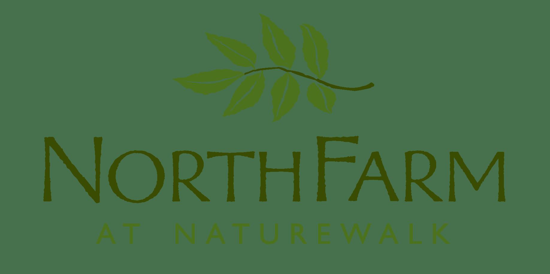the logo for NorhtFarm at NatureWalk