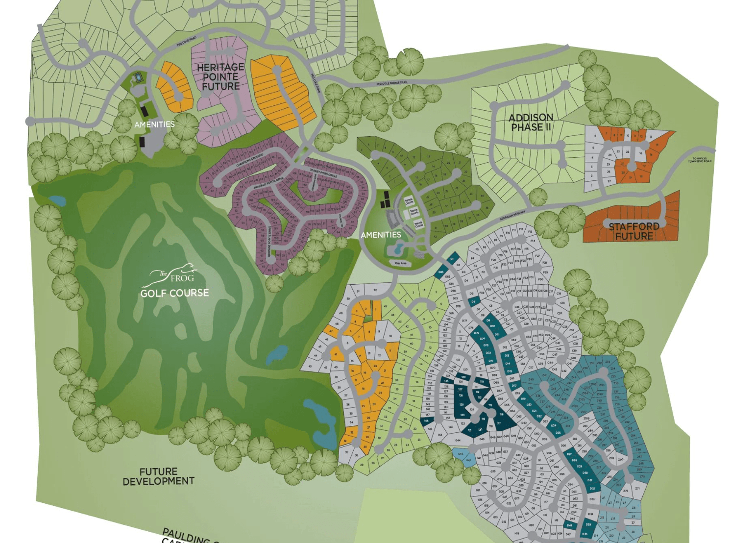 a map of the site plan for The Georgian