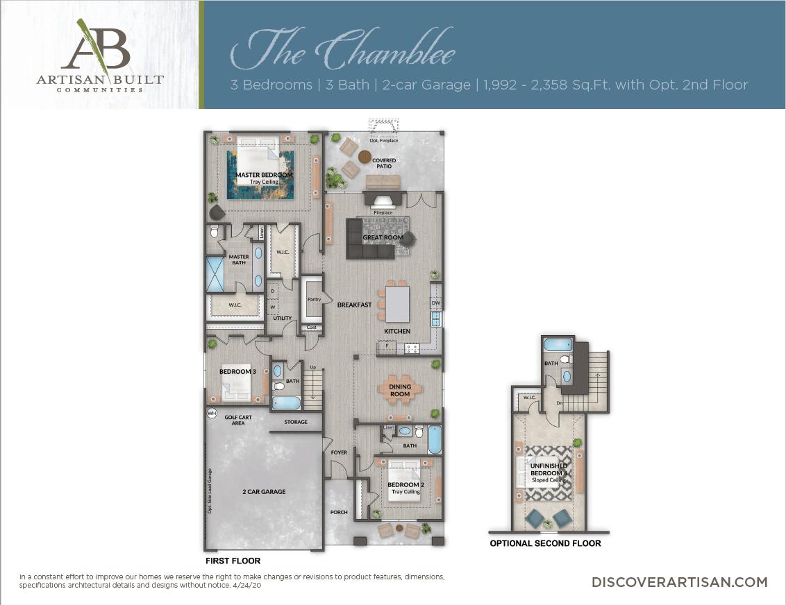 The Chamblee floor plan