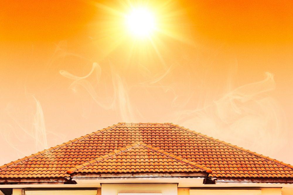 Sun hitting roof
