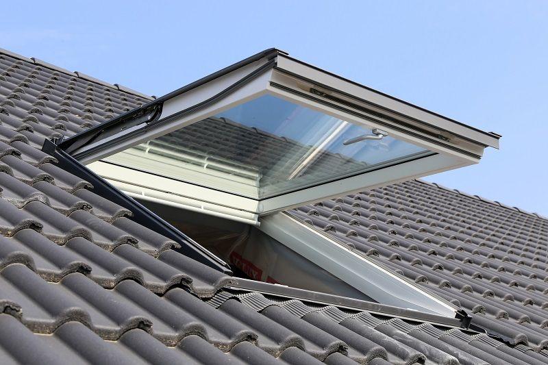 Open Skylight on Roof