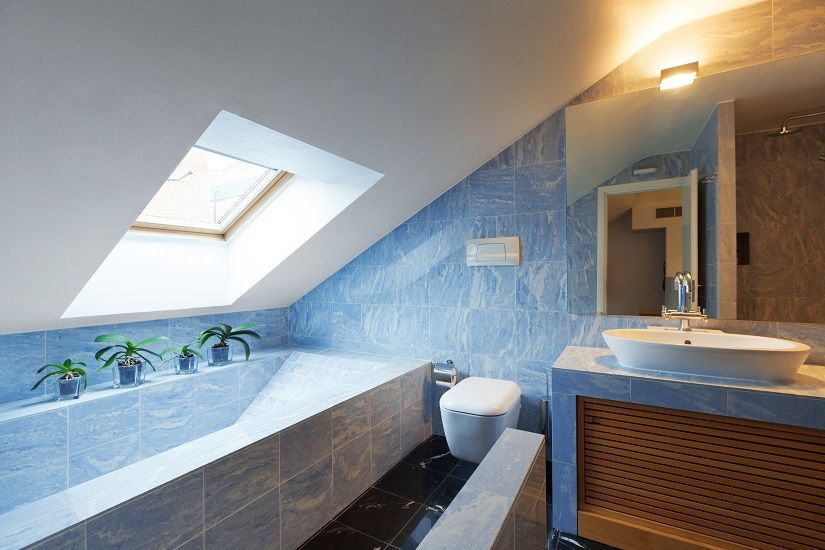 Skylight over tub