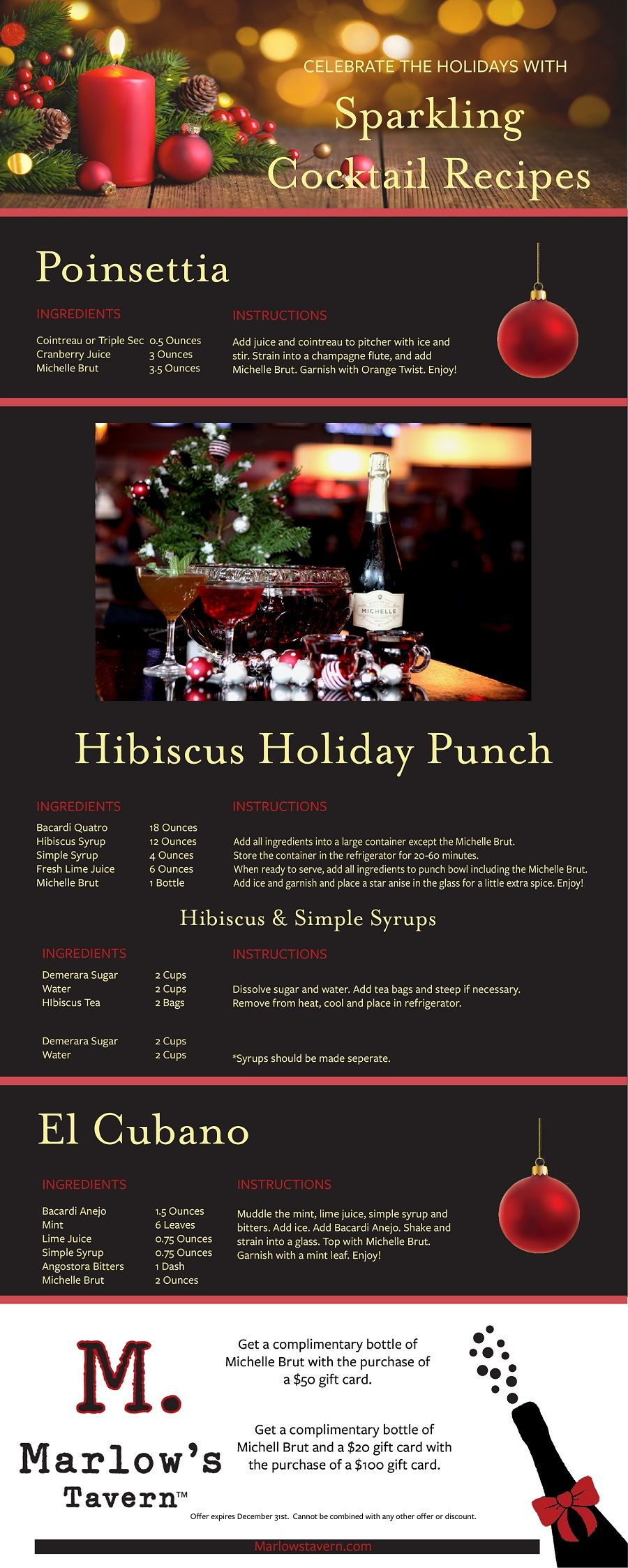 Holiday Sparkling Cocktail Recipes
