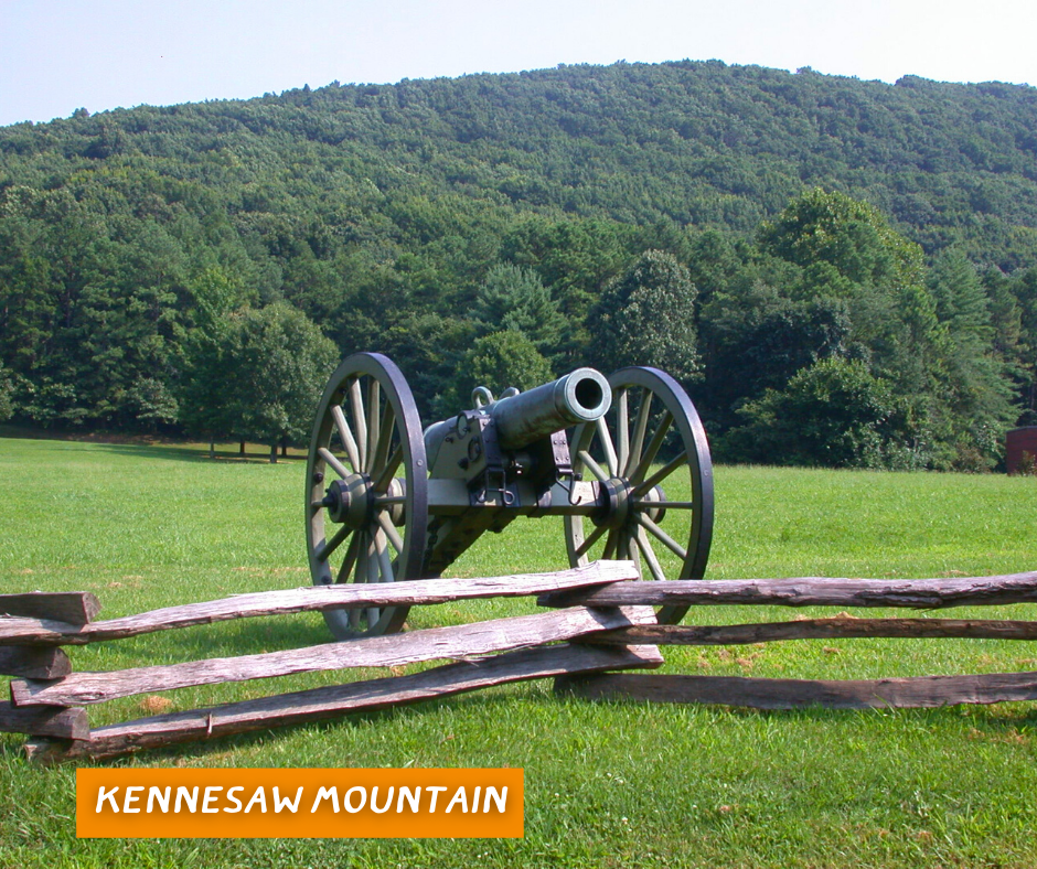 A cannon at Kennesaw Mountain