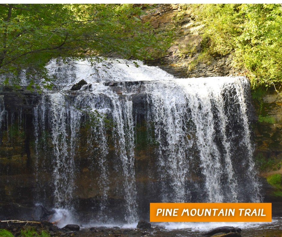 Pine Mountain Trail waterfall, Cascade falls
