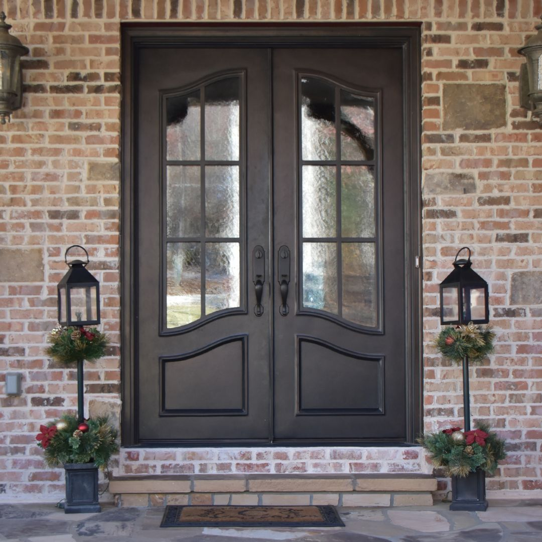 Clark Hall Iron Door with privacy glass