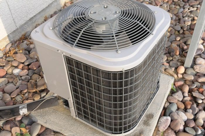 An older air HVAC system you would either repair or replace