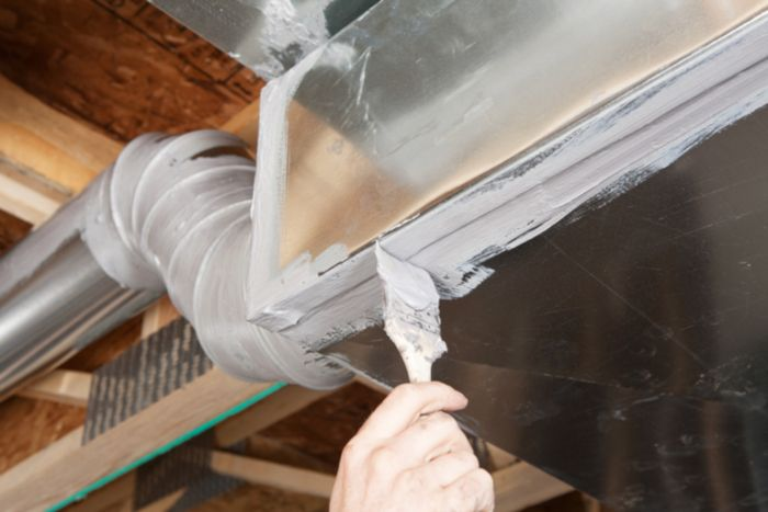 Duct Sealing With Mastic
