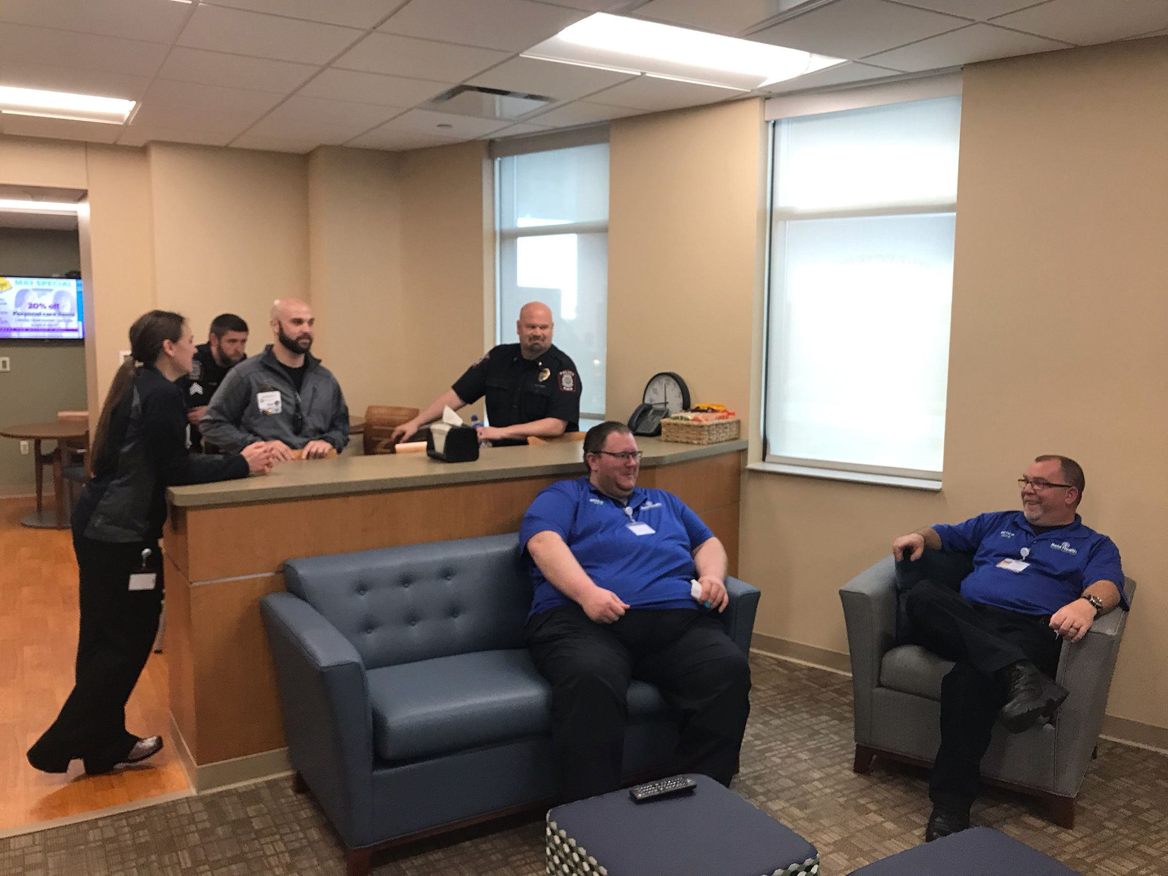 The expanded space allows different EMS teams, firefighters and law enforcement to interact and get to know one another better.