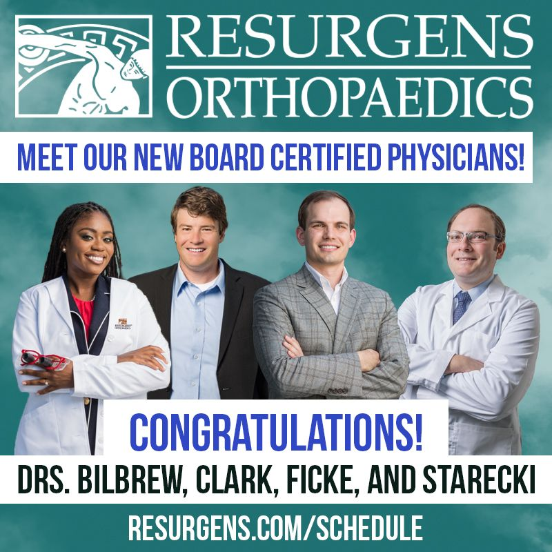 Resurgens Orthopaedic congratulating new board certified physicians