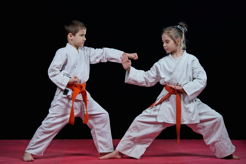Children sparring
