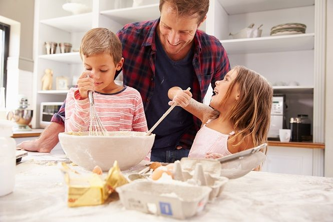 Kids Cooking with Parents