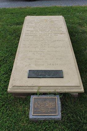 ledger grave marker