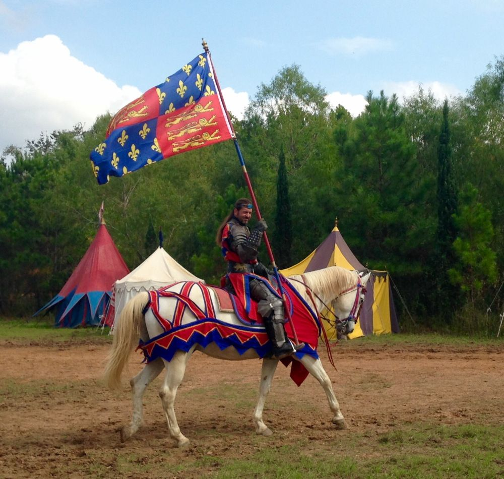"""""""Approaching a joust...Huzzah!"""" photo by Lauren Holcomb, Pin Oak Middle School, first place, news photo"""