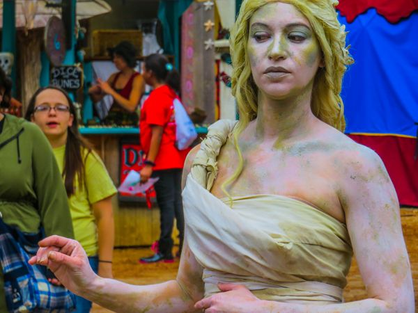 """""""Statue as a human...or human as a statue."""" photo by Abby McMorris, Pin Oak Middle School, first place portrait"""