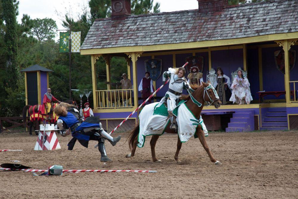 Joan of Arc Slaying Away Sir Thomas (Third place Action, Clarissa Rodriguez, Rudder HS)