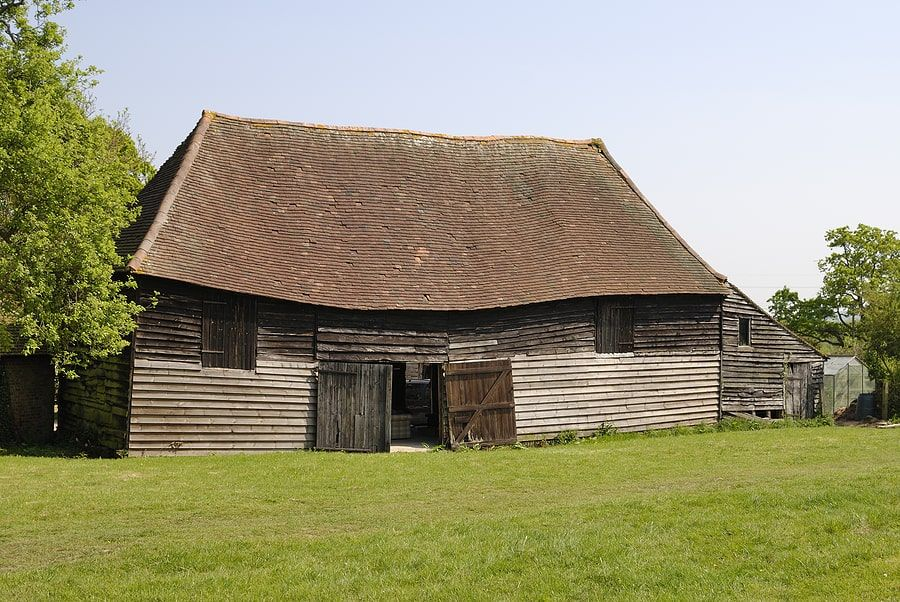 Old home with saggy roof