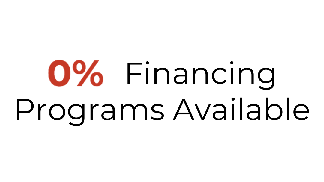 0% Financing Programs Available