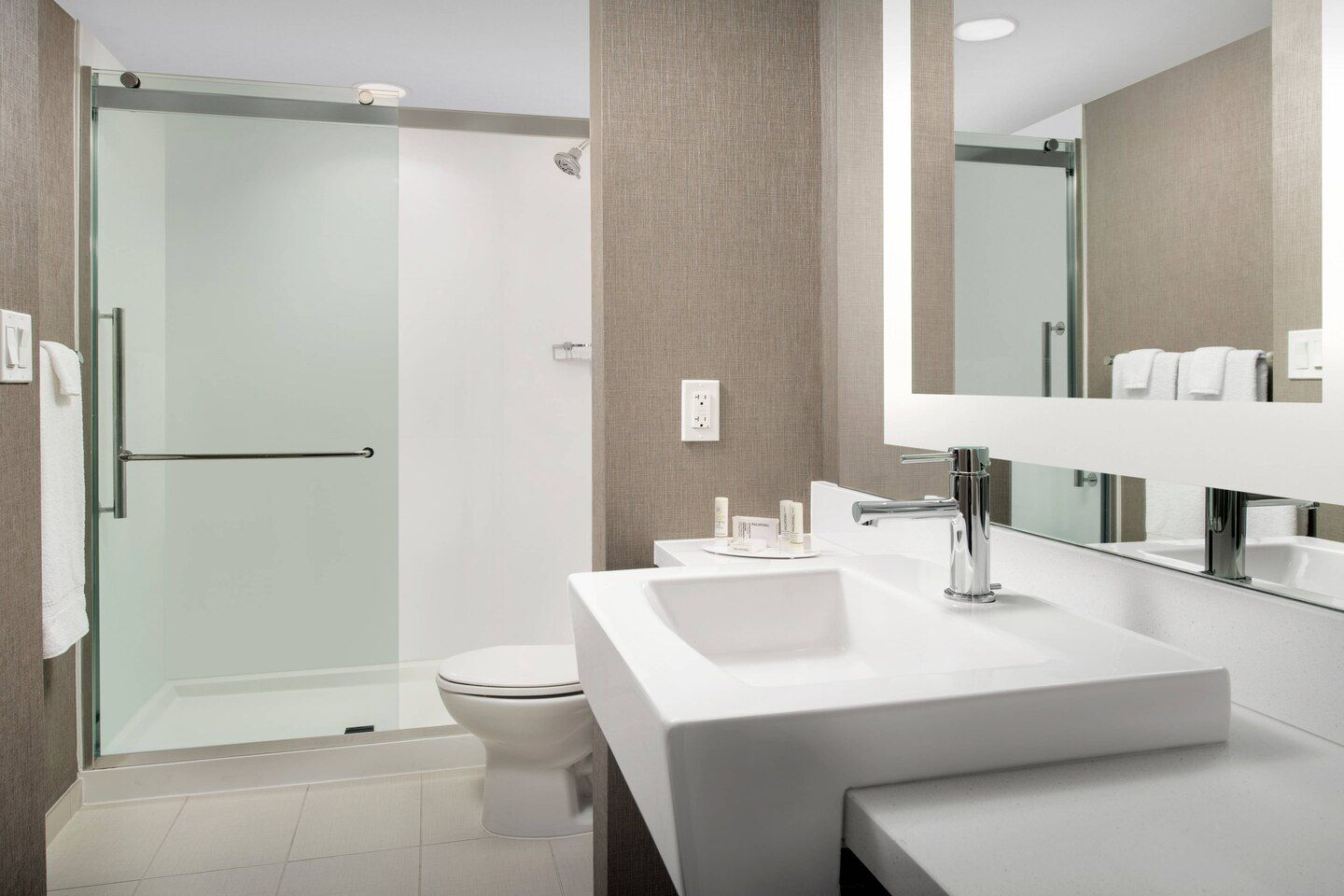 Springhill Suites Guest Bath Vanity & Shower Surrounds