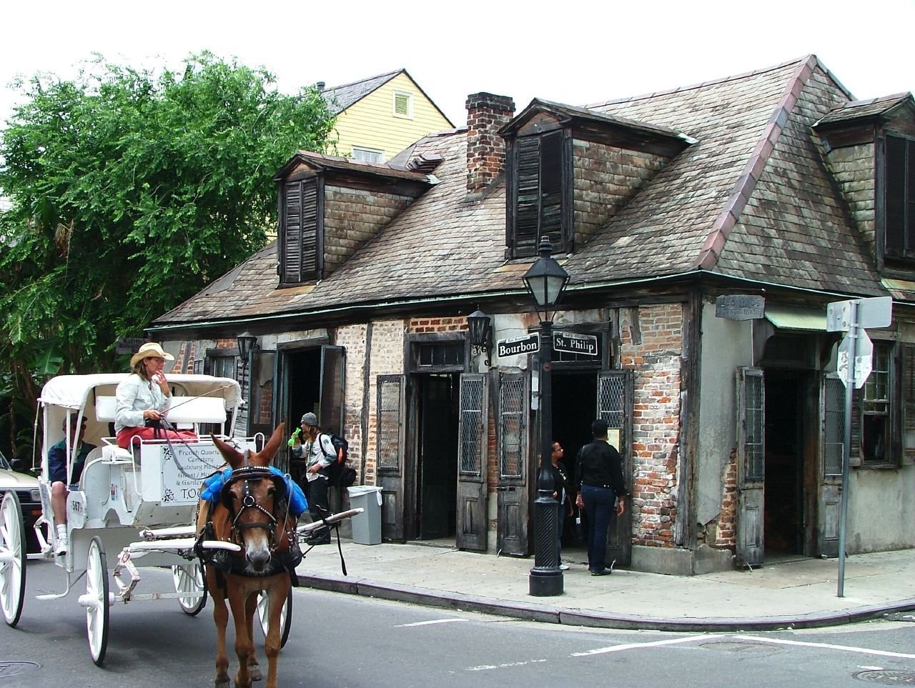 Lafitte's Blacksmith Shop is reportedly the oldest bar building in the U.S.