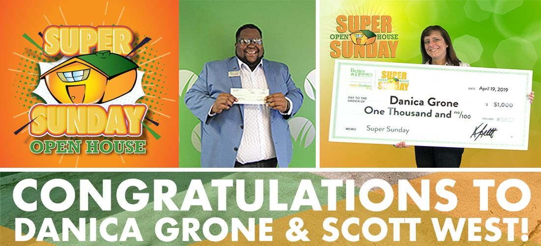 March Super Sunday Winners: Danica Grone and Scott West