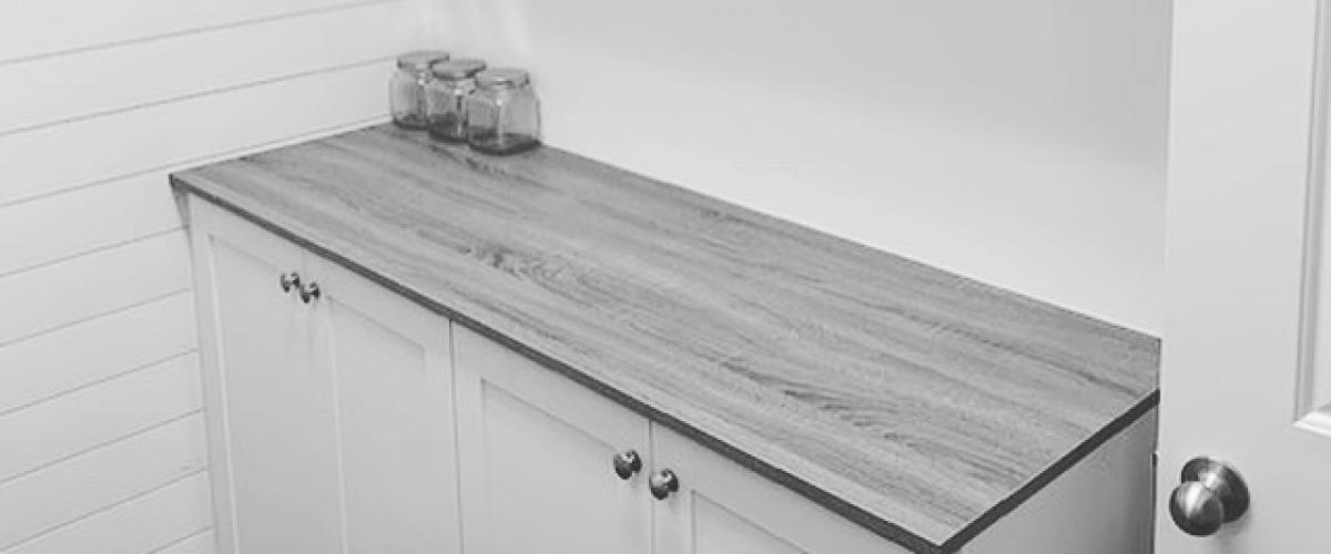 a white cabinet