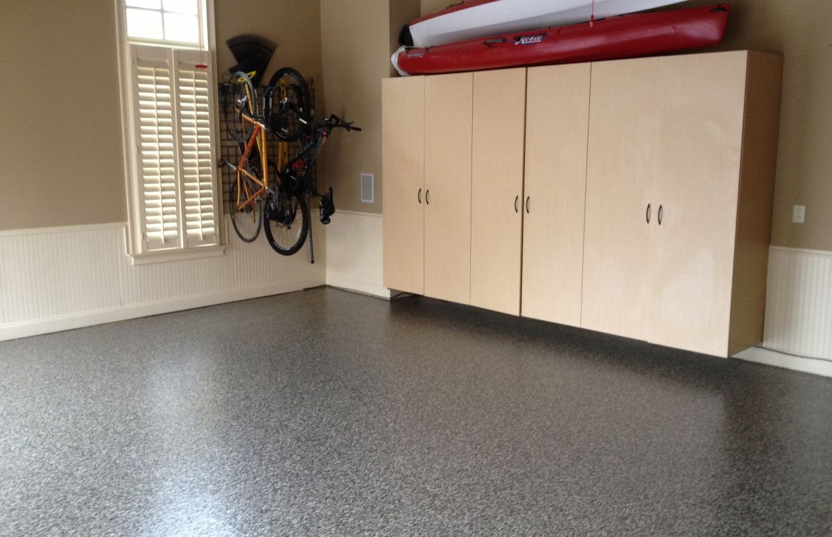 Flooring and cabinets