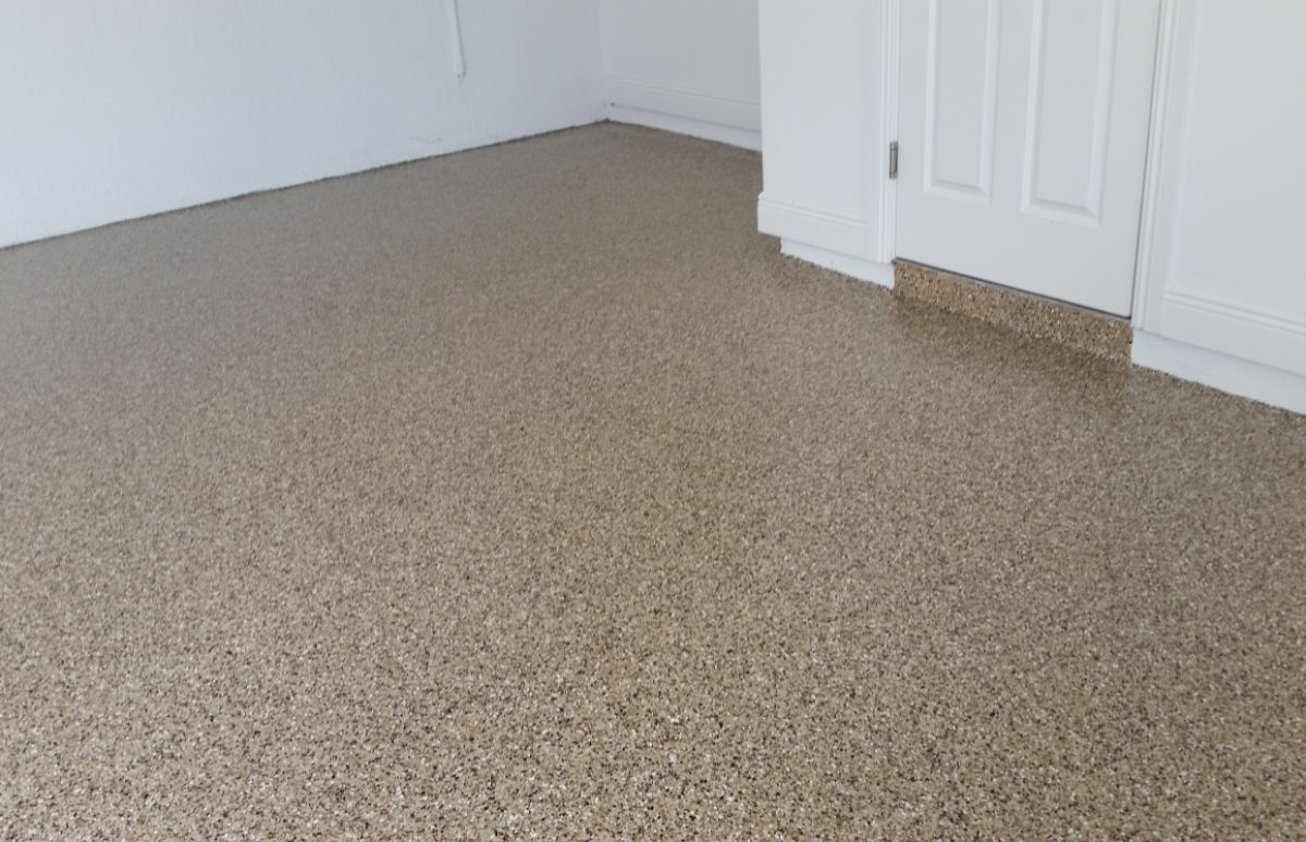 Garage Floor with Step