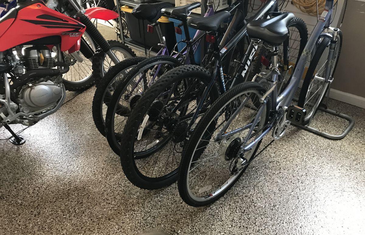 Bikes on Baja Beige