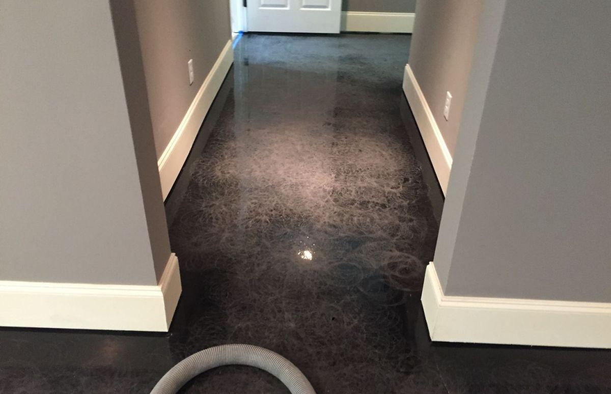 Liquid Metallic Basement Hallway