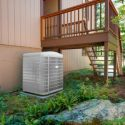 Outdoor heat pump condenser unit