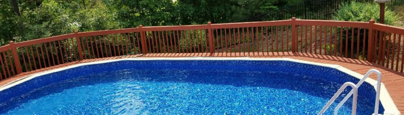 Aboveground pool packages with installation in west for Installing pool liner in cold weather