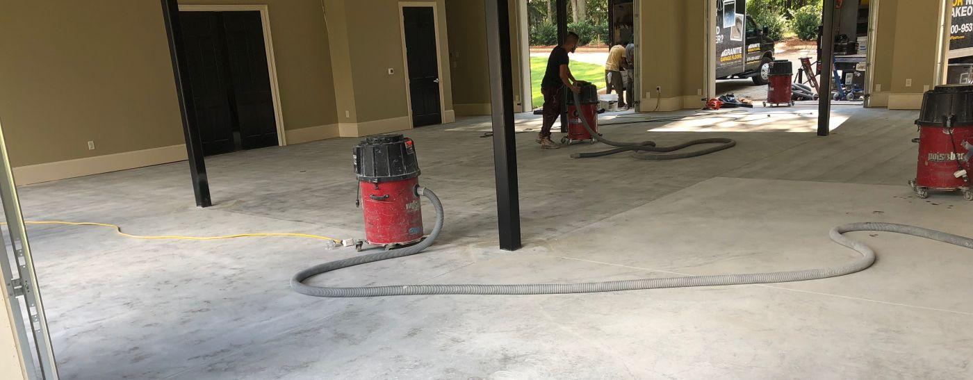 Grinding Vs Acid Etching Granite Garage Floors