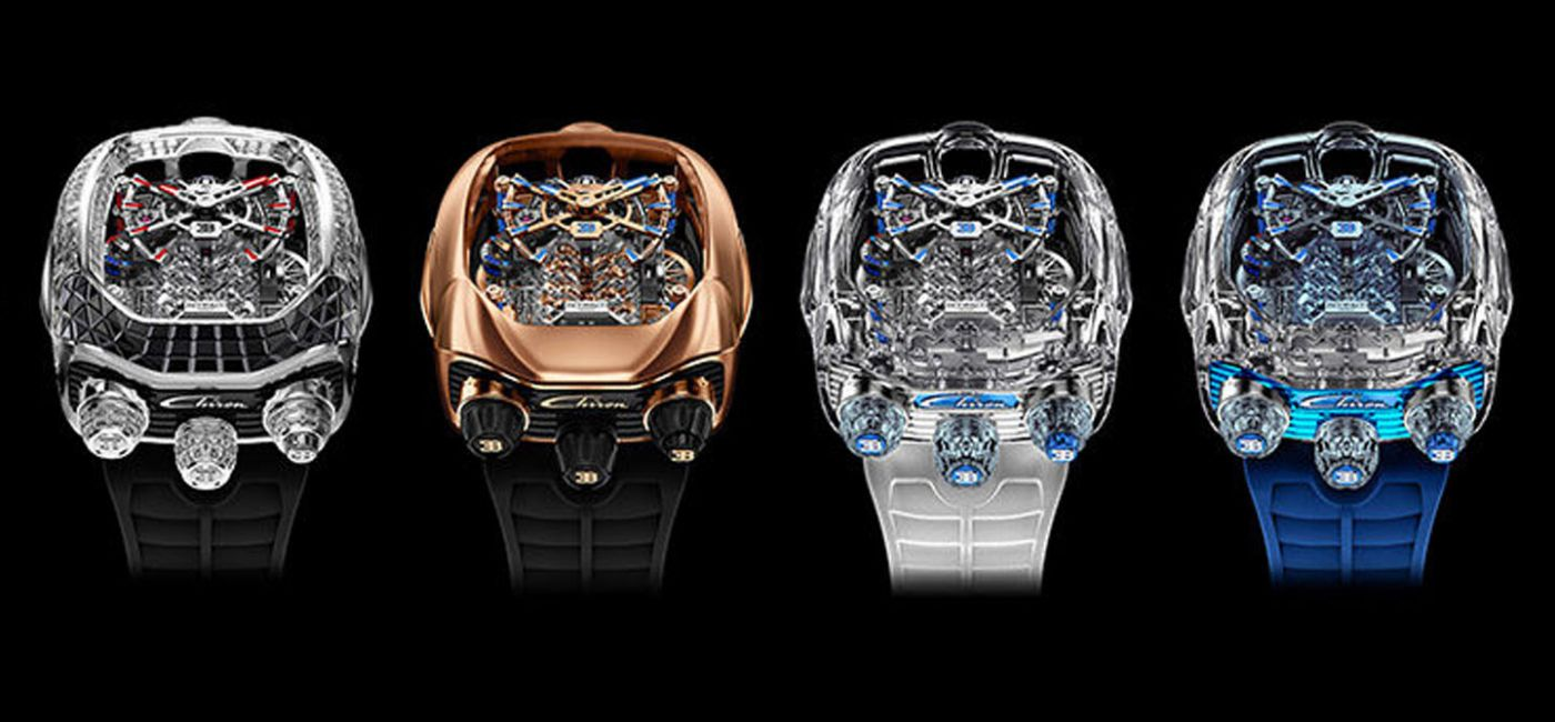 Jacob & Co. Unveils Four New Bugatti Chiron Tourbillon Watches