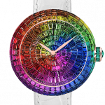 Pager to activate Brilliant Full Baguette Rainbow Multi-Coloured Sapphires